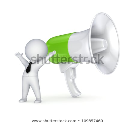 3d small people - horns Stock photo © AnatolyM