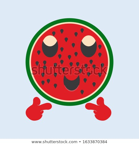 緑 スイカ 新鮮果物 漫画のマスコット 文字 サングラス ストックフォト © hittoon