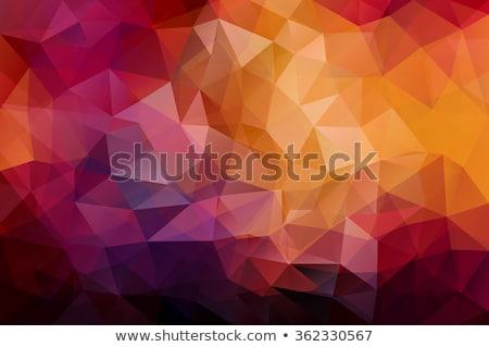 赤 · 抽象的な · モザイク · デザイン · ポスター - ストックフォト © molaruso