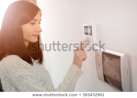 Person Pressing Security System Door Sensor Stock photo © AndreyPopov