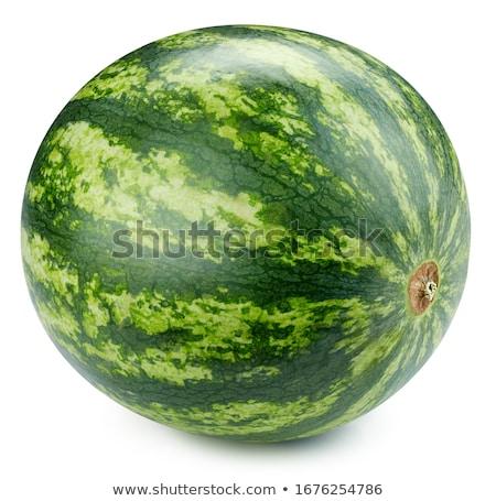 görögdinnye · egész · gyümölcs · izolált · fehér · víz - stock fotó © myfh88