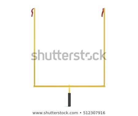 Stockfoto: Witte · voetbal · doel · geïsoleerd · kampioenschap