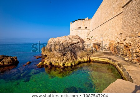 dubrovnik city walls outside waterfront view stock photo © xbrchx