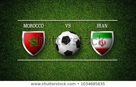 Football match Morocco vs. Iran Stock photo © Zerbor