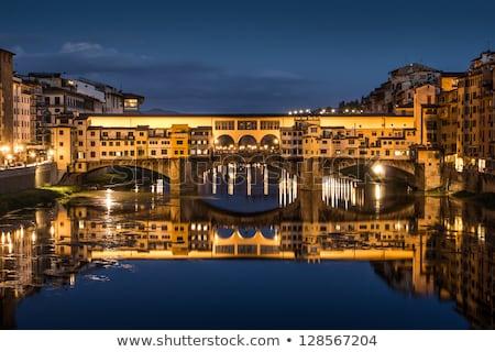 歴史的 · 有名な · フィレンツェ · イタリア · 空 · 水 - ストックフォト © givaga