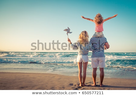 A Family Summer Holiday at Beach Stock photo © bluering