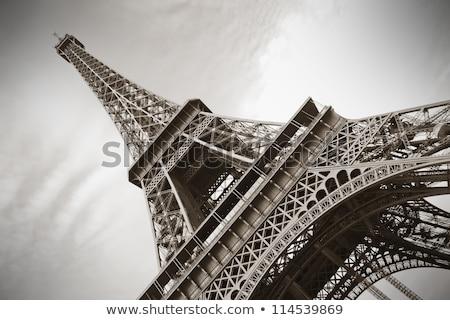 Eiffel Tower in sepia Stock photo © lubavnel