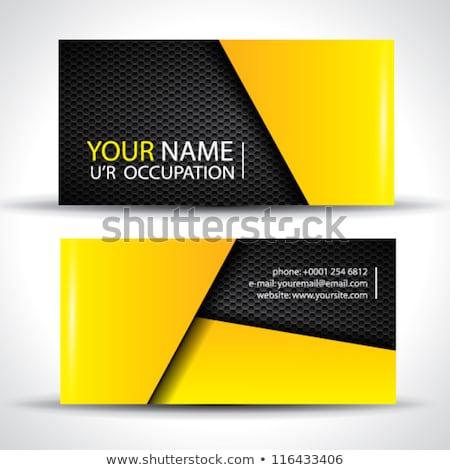 yellow dark modern business card design stock photo © sarts