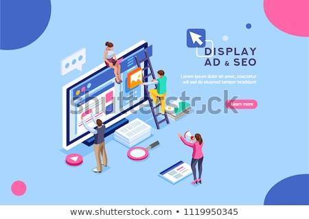 ppc · campagne · reclame · managers · werk · websites - stockfoto © tarikvision