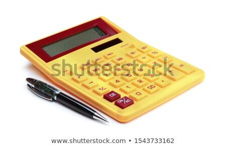 желтый калькулятор изолированный белый фон Сток-фото © kravcs