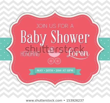 Baba zuhany kártya szeretet születés esemény Stock fotó © balasoiu