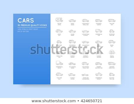 Vehicle types - line design icons set Stock photo © Decorwithme