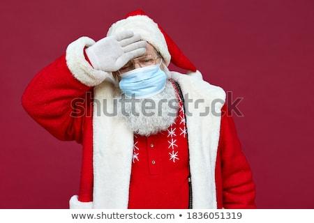 Santaclaus old man sickness Stock photo © toyotoyo