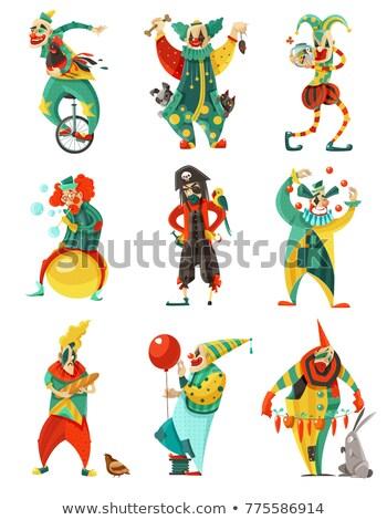 Colorido engraçado circo palhaço ilustração festa Foto stock © bluering