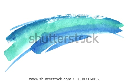 turquoise watercolor brush stroke background Stock photo © SArts