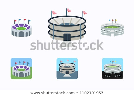 Football arena Stadium. Sports building symbol. Vector illustrat Stock photo © MaryValery