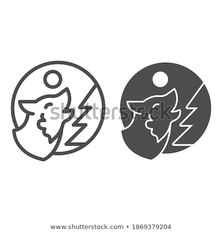 Wolf symbol. Werewolf Sign. Forest predator. Vector illustration Stock photo © MaryValery