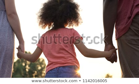 Close-up Of A Daughter's Hand Supporting Her Father Stock photo © AndreyPopov