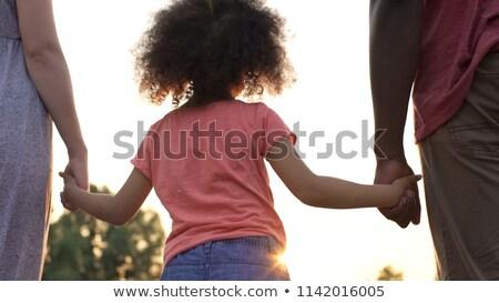 Mão pai caminhada vara Foto stock © AndreyPopov