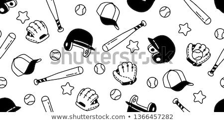 Baseball kesztyű ikon vékony vonal terv kéz Stock fotó © angelp