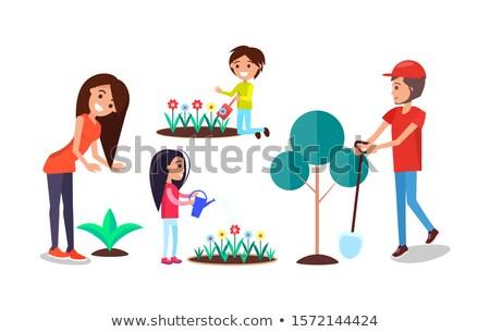 voluntario · ninos · voluntariado · árbol · junto - foto stock © robuart