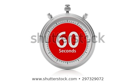 isolated stopwatch icon with sixty seconds stock photo © imaagio