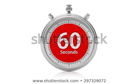 Izolált stopperóra ikon hatvan másodpercek óra Stock fotó © Imaagio