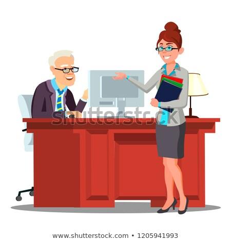 jóvenes · empresario · ofrecimiento · apretón · de · manos · gerente · jefe - foto stock © pikepicture