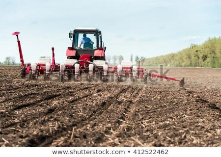 landbouwer · lopen · glimlach · grappig · beweging · cute - stockfoto © watcartoon