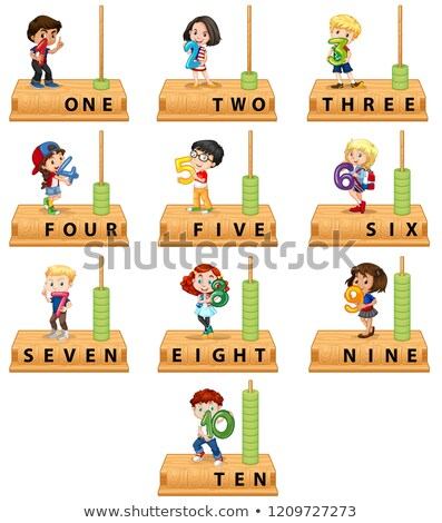 Abacus number character set Stock photo © bluering