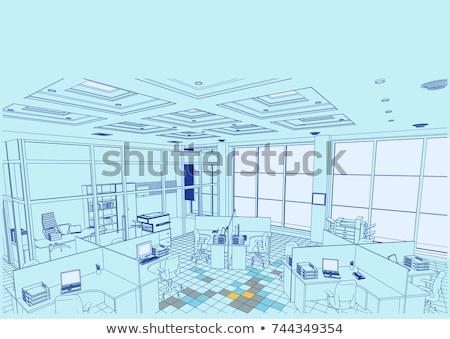 Sandalye kroki yalıtılmış beyaz ofis ev Stok fotoğraf © Arkadivna