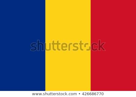 Romanya bayrak beyaz iş arka plan mavi Stok fotoğraf © butenkow