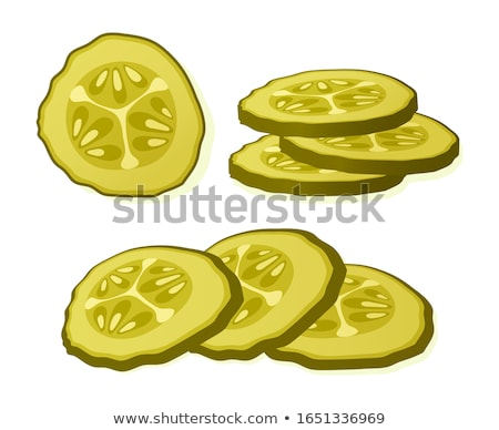 Preserved Food Pickles Vector Illustration Stock photo © robuart