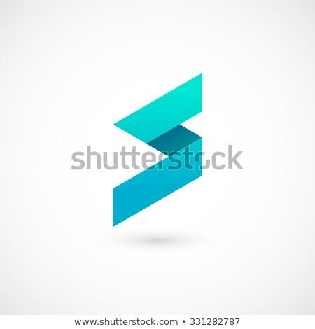 Blu gradiente lettera vettore logo Foto d'archivio © blaskorizov