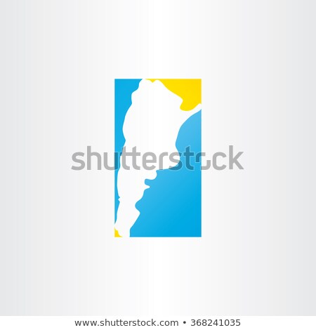 Logo Argentina mapa vector icono diseno Foto stock © blaskorizov
