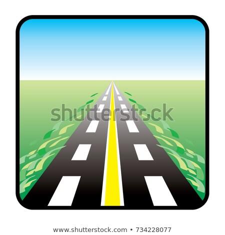 Citromsárga vonal felirat járda közelkép részlet Stock fotó © boggy