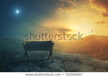 Foto stock: Cristão · símbolo · assinar · natal · celebração · ícone