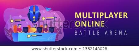 Multiplayer online battle arena concept banner header. Stock photo © RAStudio
