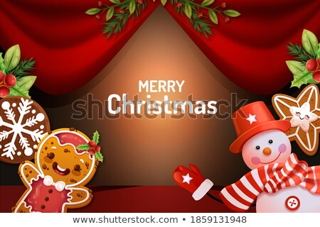 fantastic christmas greeting background with decorative balls Stock photo © SArts