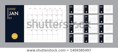 Calendar template 2020 Stock photo © orson
