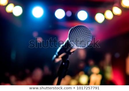Mikrofon színpad auditórium nyilvános előadás sekély Stock fotó © cookelma