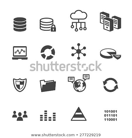 network data icon connection vector Stock photo © blaskorizov