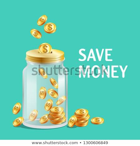 munt · icon · ontwerp · gouden · munten · cent · geïsoleerd - stockfoto © marysan