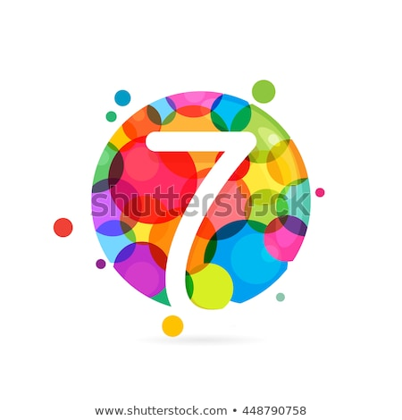 number seven multiply circle stock photo © colematt