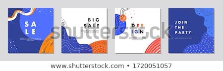 Korting verkoop wenskaart banner poster flyer Stockfoto © FoxysGraphic