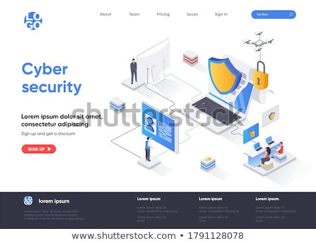Cyber security concept banner header. Stock photo © RAStudio