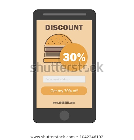 fast food burger coupon discount template flat design - email subscribe form stock photo © Natali_Brill