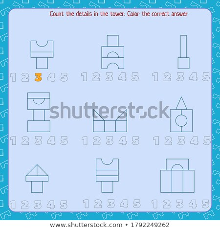 count how many parts in each shape Stock photo © Olena