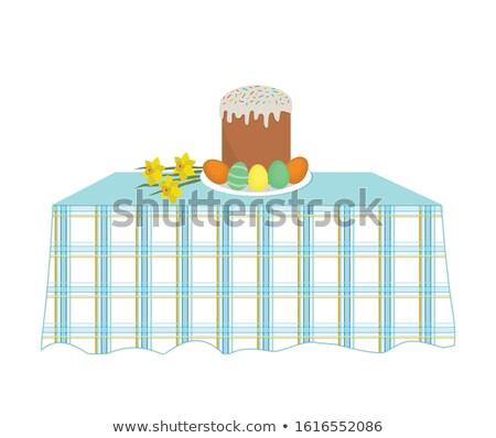 paskalya · yumurtası · iyi · paskalyalar · renkli · ayarlamak · hat · dizayn - stok fotoğraf © dashadima