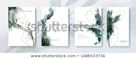 leaves style wedding invitation template Stock photo © SArts